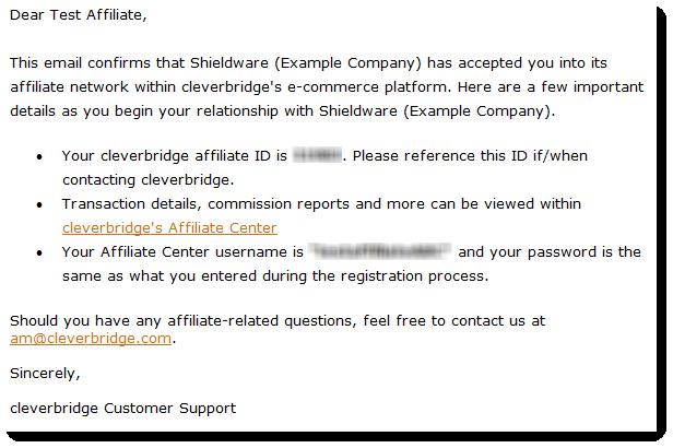 Configure affiliate center setup | cleverbridge.